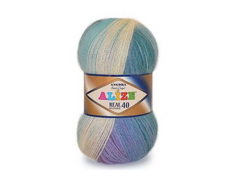 Angora Real40 Batik Alize Crochet yarn Yarn for knitting Winter yarn Hand knit yarn Color choice Angora yarn Soft yarn Wool blend yarn