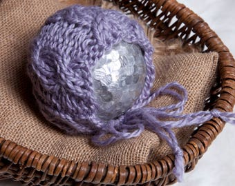 Roxanne Newborn Bonnet Pattern, Knit PDF Pattern, Newborn Hat Pattern, PHOTO shoot prop, Knit, Bulky Weight 5, PDF, Newborn hat