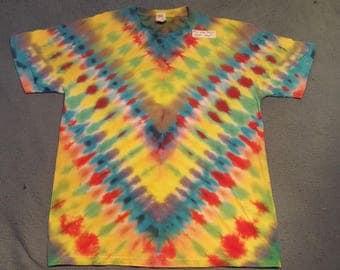 "tie dye t-shirt adult large""yellow dragon"""