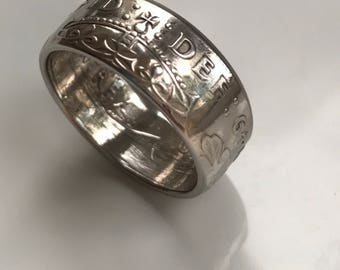 1949 Two Shilling coin ring