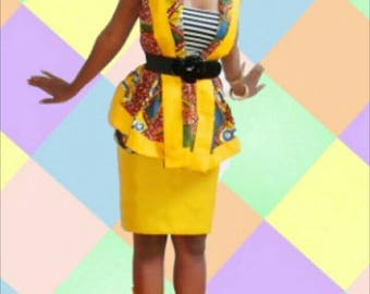 African print dress by shebabe