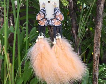 Berina feathers earring