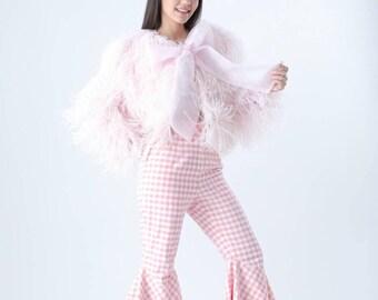 Ammie ostrich feathers blazer