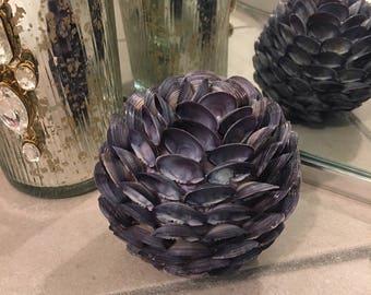 Purple Bubble Seashell Orb