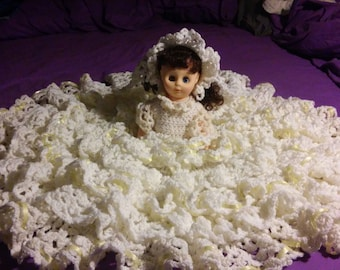 June Bride Crocheted Bed Doll.