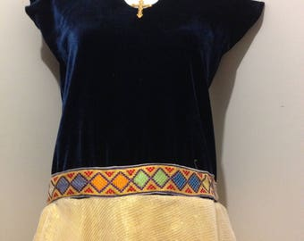 Ethiopian traditional with modern design(with velvet top)