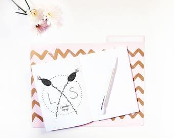 Hand Drawn Premade Logo - One of a Kind OOAK - Cute, Feminine, Floral, Lavender Sprigs Design