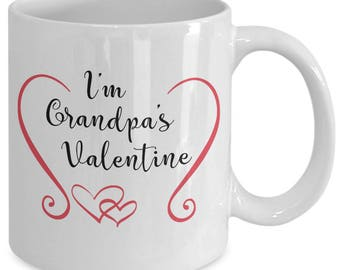 Grandpa's Valentine Mug, Unique Coffee Mugs, gift for her, gift for men, valentine's day quotes, valentine's day gift ideas