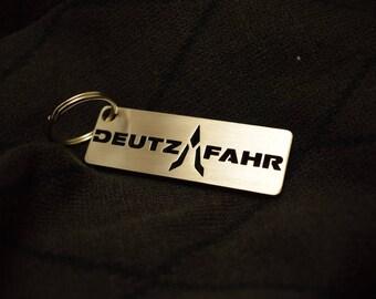 DEUTZ-FAHR stainless steel hand polished keychain