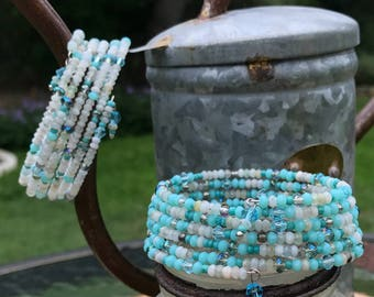 Apatite 3mm Wrap Bracelet (two options to choose from)