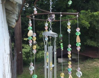 Crystal Pastel Color - Beachy Whimsy Wind Chime Suncatcher