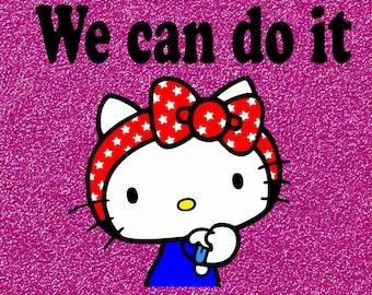 Hello kitty shirt, women's shirt, funny, empowering, t-shirtHello Kitty Shirt, Hello Kitty Birthday, Girls Shirt, Girls Birthday, Cat,BAG,