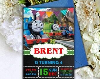 Thomas The Train,Thomas The Train Birthday Invitations,Thomas The Train Birthday,Thomas The Train Invitation,Thomas The Train Invites,Thomas