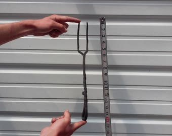 hand forged toasting fork, BBQ , grill fork, grilling tools, utensils