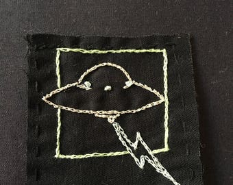 Hand Embroidered UFO Patch