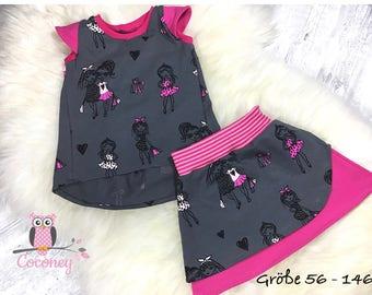Kids TShirt and skirt set