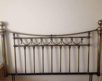 English vintage Brass bedhead / Tête de lit vintage en laiton