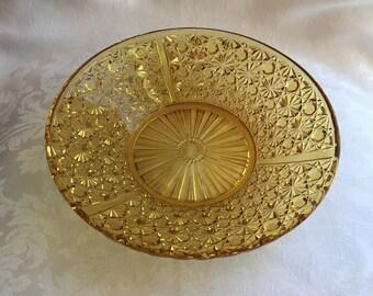 Vintage marigold glass bowl