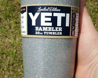 Glitter Yeti Ozark RTIC Glitter dipped powder coated. glittered yeti custom yeti with decal , yeti decal , sticker included