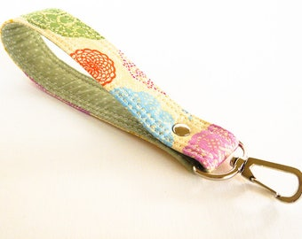 Lace Key Fob, Fabric Key Chain, Wrist Strap, Wrist Lanyard, Key Holder, Short Lanyard Strap, Lace Pattern Key Holder, Gift for Her