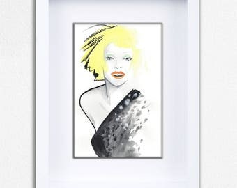 Yellow Hair Don't Care Limited Edition Framed Fine Art Print