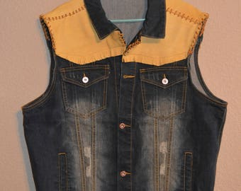 Leather Accent Vest