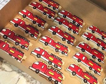 Firetruck sugar cookies