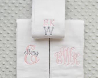 Monogrammed Burp Cloths Girl, Monogram Baby Gift, Monogram, Burp Cloths Girl, Baby Burp Cloths, Baby Girl, Baby Shower, Monogram Baby Girl