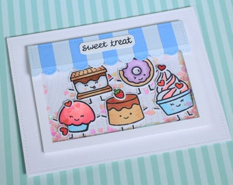 Handmade Card, Greeting Card, Sweet Treat, Valentine Card, Shaker Card