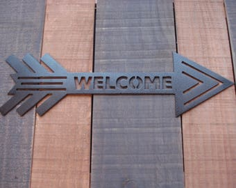 Welcome Metal Decor