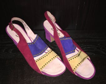 Studded ColorBlock Heels Size 8.5