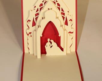 Wedding card, Pop Up Wedding Card, Pop Up Card, 3D Card