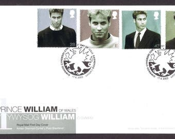 Prince William Of Wales 21st Birthday FDC 17.6.2003 unaddresed.