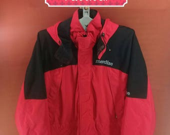 Vintage Merdise Hoodie Jacket Hiking Jacket Gore Tex Outdoor Men Red Black Cross Colour Size LL Goose Down Jackets Outdoor