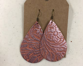 Terra-cotta embossed large teardrops