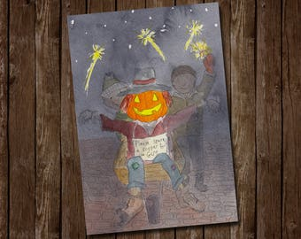 Bonfire Night Greetings Card - Celebrating November the 5th