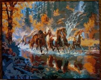 Wild Horses in Autumn