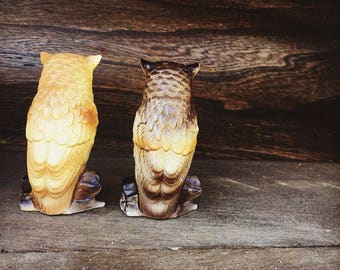 70's Vintage Owl Salt and Pepper Shakers