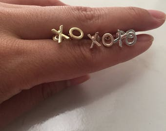 XO (Hugs and Kisses) Earrings in Gold, Silver & Rose Gold