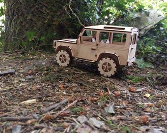 Land Rover Defender 90 Plywood Model SWB 2 versions