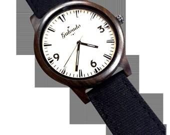 Bamboo Watch -|Mens Wooden Watch||Nylon Watch Band||Mens Watch Box||Bamboo Watch||Womens watch|| unisex watch|