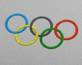 Olympic Rings USA Embroidery Design