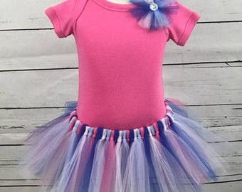 Tulle Tutu (Cinderella) With Tulle Hairbow