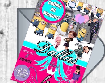 Despicable Me 3 Invitation