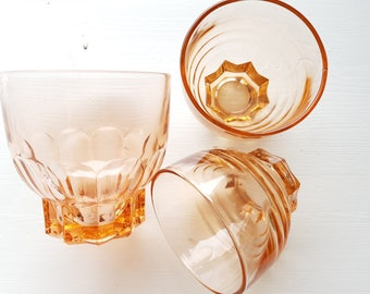 French glass set