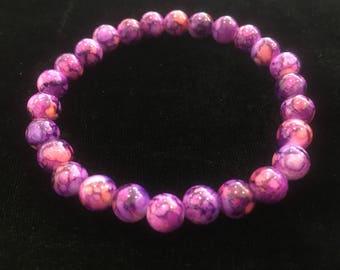 PURPLE ceramic beads BRACELET
