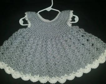 Crochet Silver sparkle dress