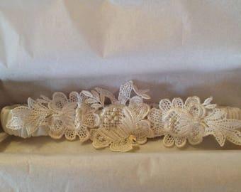 Garters Handmade & Personalized made from Mom's or Grandma's Wedding Dress