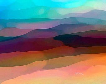 Art Print, Abstract Landscape, Modern Art