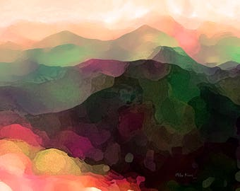 Abstract Art Print, Landscape